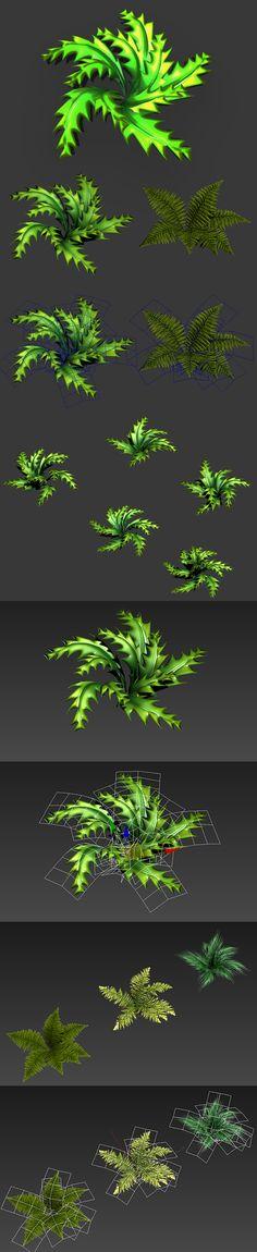 3DOcean Toon and Realistic Fern Shrubs 5517433