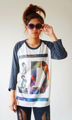 S, M, L -- 1D Shirts Galaxy Shirts One Direction Shirts Rock T-Shirts Jersey Baseball Tee Raglan Tee Long Sleeve Unisex Shirts Women Shirts on Etsy, $18.00