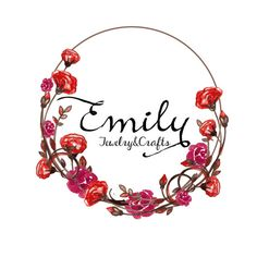 Custom logo design Red roses wreath logo design by HappyLogo