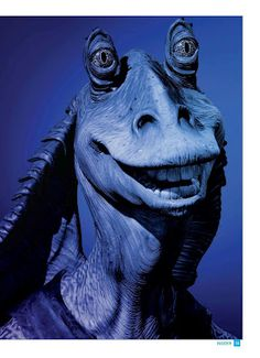 Aldos favorite Star Wars character is Jar Jar. I don't understand it either! Great Warriors, Star Wars Tattoo, Star War 3, Weird Pictures, Star Wars Characters, Sith, Nerdy, Ears, Comic
