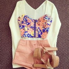 Tank top: clothes, bralette, zipper, floral tank top, floral, crop ...
