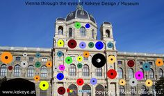 Museum Wien, Vienna in Dots Design / Photo © Kekeye Design e. Dots Design, Vienna, Museum, Mansions, Eyes, House Styles, City, Mansion Houses, Manor Houses