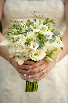 Ivory/White Wedding Bouquets for bridesmaids. Mine can be bigger with more white flowers  Brittney / Matt ARFD