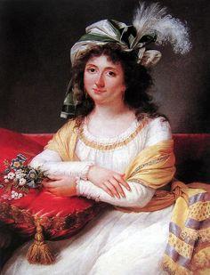 Madame de Rivière (Belle-soeur de Madame Vigée Le Brun) peinte, by Adèle de Romance Romany.
