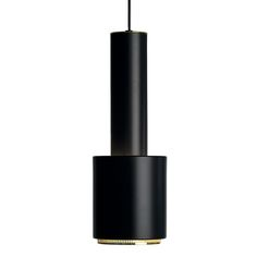 Aalto A110 ceiling lamp, black, by Alvar Aalto.