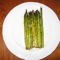 """Grilled Soy-Sesame Asparagus 