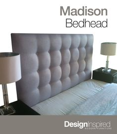 Madison Deluxe Upholstered Bedhead ASH