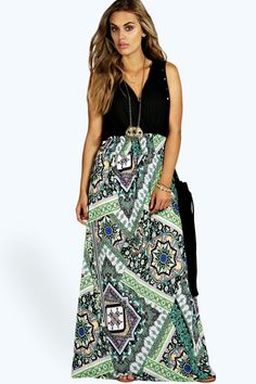 online shopping for Plus Mia Paisley Print Contrast Maxi Dress from top store. See new offer for Plus Mia Paisley Print Contrast Maxi Dress Boohoo Plus Dresses, Plus Size Black Dresses, Plus Size Outfits, Trendy Plus Size Fashion, Trendy Plus Size Clothing, Plus Size Shirt Dress, Plus Size Kleidung, Maxi Dress Wedding, Curve Dresses