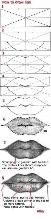 Tutorial draw lips by lamorghana on deviantART