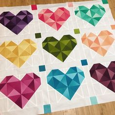 Yes!! The pattern and fabric kit are in the works! I'm so happily overwhelmed with all the love you gave me for my Love Machine quilt . Thank you!! Only two more rows to go, plus a border . The pattern is coming along too. Be sure to sign up for my newsletter to be the first to find out when it's available . (Link in profile) #lovemachinequilt #vandcoombre from @modafabrics and @vandco_