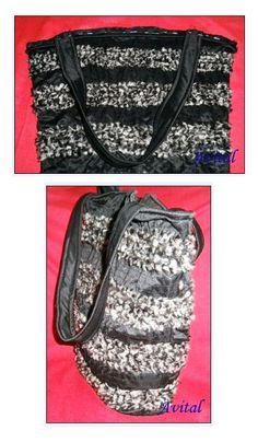 Bolso Texturado con lanas - 4