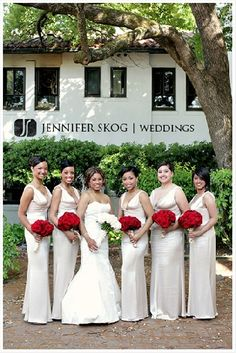 This was kind of the silver I was going for but I don't like it as much. I do like the style of the bridesmaid dresses.