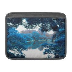 #Blue colour effected cool unique nature lake sleeve for MacBook air - #travel #electronics