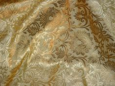 Indian fabric Beige Brocade Fabric Banarasi Brocade Lehenga Fabric Banarasa Brocade Fabric by the Yard crafting sewing costume You can purchase from link or What's App no. is We also take wholesale inquiries. Brocade Lehenga, Brocade Fabric, Banarasi Lehenga, Gold Fabric, Indian Fabric, Wedding Fabric, Beige Background, Grey And Gold, Printed Cotton
