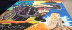 https://flic.kr/p/yxDczN | pirateatLunaParkChalkArt | Luna Park Chalk Art Festival San Jose Septeber 19, 2015. I went early and no artist's cards were up yet and most of the works are in progress. But fun, as always.