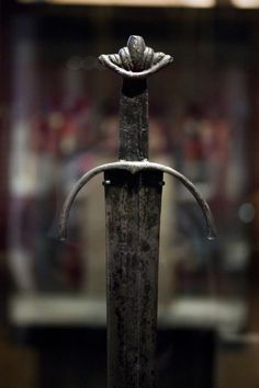 The Cawood sword is regarded as one of the finest Viking swords ever discovered. It is nearly 1,000 years old and is the fifth sword of its type ever to be found and by far the best preserved. It's from the end of the Viking period and beginning of the Medieval and the sword itself reflects this. Yorkshire Museum