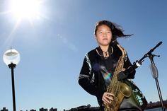 Saxophonist Hinano, 14 years, performing at the Sydney Opera House. #spotlightonstars