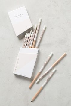 Gift Guide Ideas for your Girlfriends -- #ad - Modern Wood White Pencils