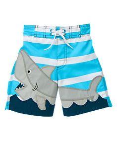 Shark Stripe Swim Trunk  #KidsAroundTheWorld