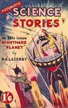 Futuristic Science Stories, #1, 1950 - Illustration: Gerald Facey