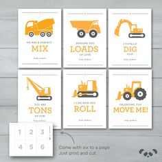 Construction Valentines Digger Dump Truck by PandafunkCreations Valentines Day Decorations, Valentines For Kids, Valentine Day Cards, Valentine Ideas, Valentine Backdrop, Funny Valentine, Crane, Truck Tattoo, Valentine's Cards For Kids