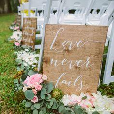 Corinthians Aisle Sign - Set of 1 - Wooden Wedding Signs - Wood
