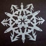 snezhinka10 Трафареты снежинок   снежинки балеринки для вырезания из бумаги