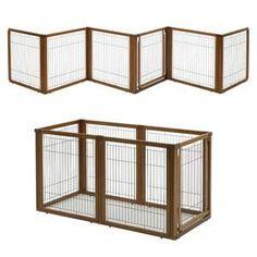 Richell Convertible Dog Gate -Elite 6 panel