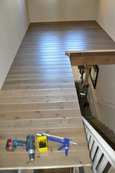 Before & After: From Ceiling Space to Loft Space; Build a loft above an empty foyer to add some much needed space Home Renovation, Home Remodeling, Kitchen Remodeling, Loft Spaces, Small Apartments, Stairways, Apartment Therapy, Home Projects, Craft Projects
