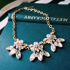 J. Crew Fleur De Lis Statement Necklace Gorgeous and timeless, she could always rely on this necklace to give her a sparkle when she needed it. Given to her from a friend, it's the best accessory in her closet! J. Crew Jewelry Necklaces