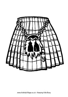 Here's a free Scottish kilt colouring page to print Easy Coloring Pages, Coloring Pages For Kids, Coloring Sheets, Kids Coloring, Robbie Burns Night, Burns Night Crafts, Scotland History, Scotland Map, Cultural Crafts