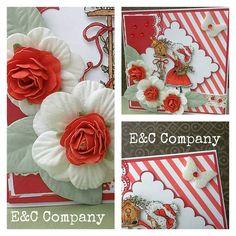 Cartão utilizando papéis Linha Natal e flores E&C Company http://www.eccompany.com.br