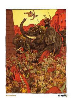 Ex-libris BD fugue, pour Les Voleurs de Carthage, dessin de Hervé Tanquerelle. #Dargaud #BD