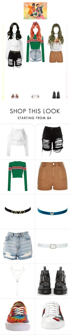 """FRESH at Weekly Idol"" by fresh-officiall ❤ liked on Polyvore featuring Balmain, Maison Margiela, MSGM, River Island, Shashi, Topshop, M&Co, Charlotte Russe, Dr. Martens and Vans"