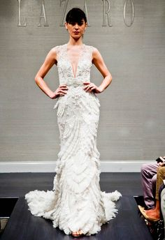 There's something so sexy and slimming about this silhouette! Lazaro Fall 2014 | The Knot Blog