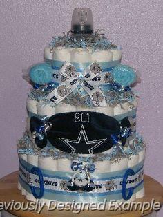 JPG   Dallas Cowboys Diaper Cake