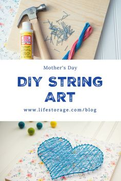 DIY string art makes a great gift for Mom on Mother's Day! It's so easy to make that even a kid can do it. Here are three free printable patterns for spring to get started.