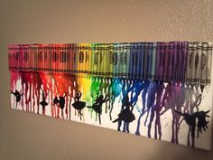 melted crayon art with dancers