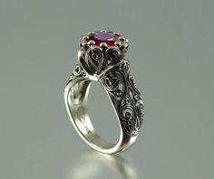 Vintage Ruby ring by Sergey Zhiboedov
