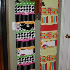 diy hanging file folder pocket chart-a must do to help with organization and space saver too. Folder Organization, Teacher Organization, Paper Organization, Paper Storage, Organizing Bills, Paperwork Organization, Wall Storage, Classroom Design, Classroom Decor