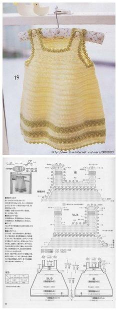 18 trendy crochet dress chart little girls Crochet Hat For Women, Crochet For Kids, Crochet Top, Crochet Ideas, Crochet Gloves, Crochet Jacket, Knitting For Kids, Baby Knitting, Crochet Socks Tutorial