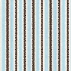 Blue and Brown Ribbon Stripe Fabric by the Yard   Carousel Designs 500x500 image