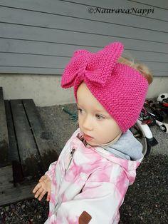 neulottu rusettipanta ohje drops merino Knit Crochet, Crochet Hats, Knitting, How To Make, Kids, Baby, Crocheting, Fashion, Knitting Hats