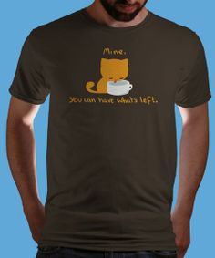 """""""Greedy Cat"""" on Qwertee today : Limited Edition Cheap Daily T Shirts 