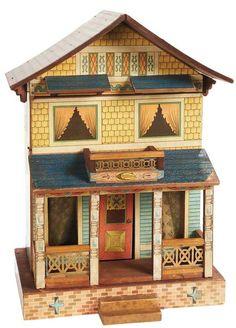 vintage Bliss dollhouse. Cute and colorful.  .....Rick Maccione-Dollhouse Builder www.dollhousemansions.com