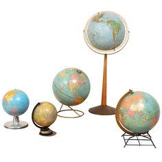 Assortment of Vintage Globes