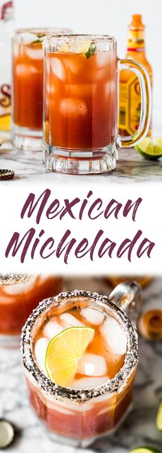 refreshing Michelada recipe made with Clamato juice and Mexican beer is the perfect cocktail for brunch or alongside your favorite Mexican party foods! Mexican Beer, Mexican Drinks, Mexican Dishes, Mexican Food Recipes, Ethnic Recipes, Mexican Party Foods, Mexican Cooking, Low Carb Diets, Leaky Gut