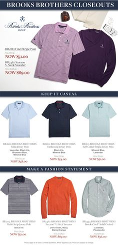 Save on Brooks Brothers Closeouts