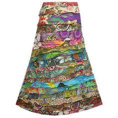 New Boho Hippie Tier Ruffle Patchwork Cotton Long Skirt NP788 | eBay