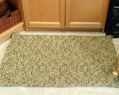 No Slip Crocheted Area Rug for kitchen bath by CustomBearHugs, $80.00
